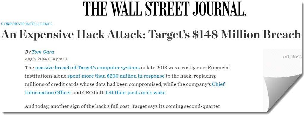 2013 Target's $148 Million Hacked